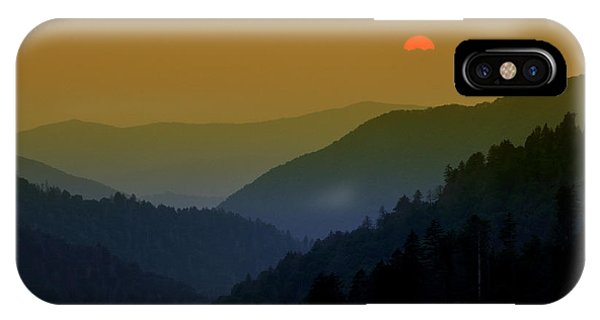 Great Smoky Mountain Sunset IPhone Case