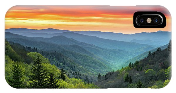 Nc iPhone Case - Great Smoky Mountains National Park Gatlinburg Tn Scenic Landscape by Dave Allen