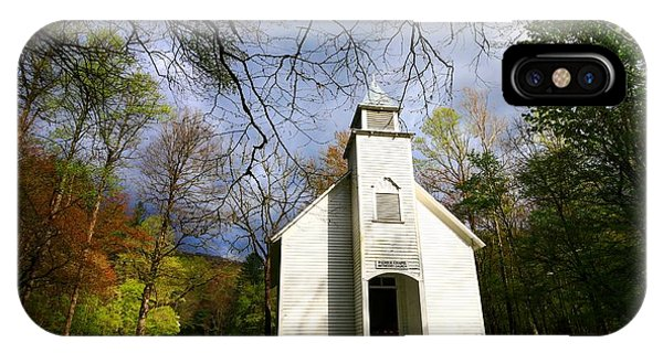 Great Smoky Mountains Spring Storms Over Palmer Chapel  IPhone Case