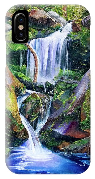 Great Smoky Waterfall IPhone Case