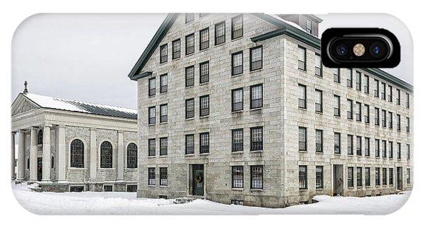 New England Barn iPhone Case - Great Stone Shaker Building In Winter by Edward Fielding