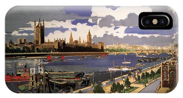 Advertising iPhone Case - Great Western Railway - London Pride - Retro Travel Poster - Vintage Poster by Studio Grafiikka