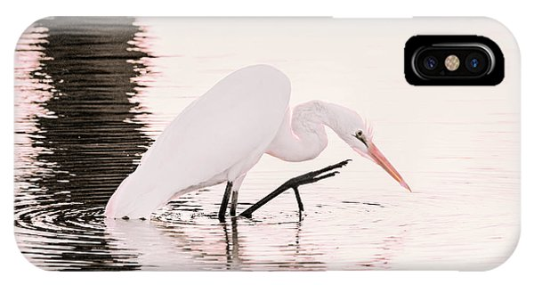 IPhone Case featuring the photograph Great White Egret Pink Sunset by Jennie Marie Schell