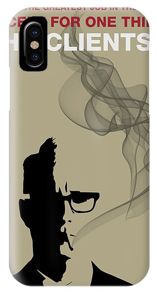 Greatest Job In The World - Mad Men Poster Roger Sterling Quote IPhone Case