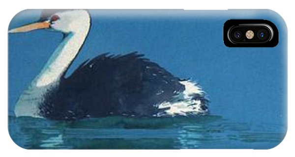 IPhone Case Featuring The Painting Grebes By Denny Bond