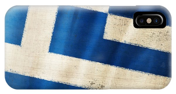 Greece iPhone Case - Greece Flag by Setsiri Silapasuwanchai