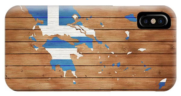 Traveler iPhone Case - Greece Rustic Map On Wood by Dan Sproul
