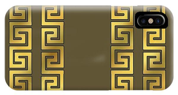 Greek Gold Pattern - Chuck Staley IPhone Case