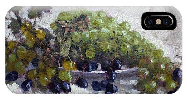Grape iPhone X Case - Greek Grapes by Ylli Haruni