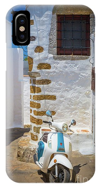 Archipelago iPhone Case - Greek Scooter by Inge Johnsson