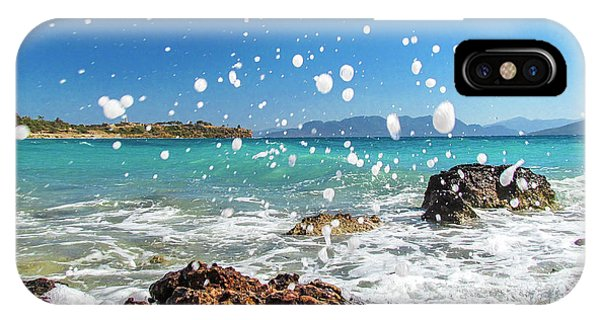 Greek Surf Spray IPhone Case