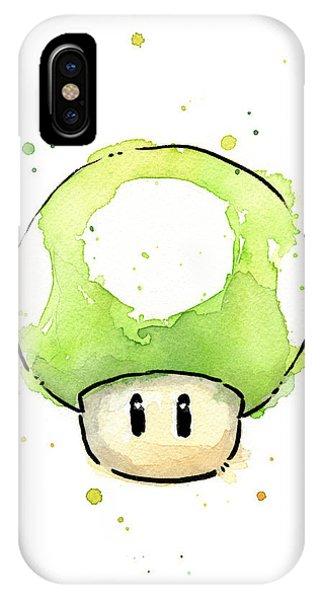 Green 1up Mushroom IPhone Case