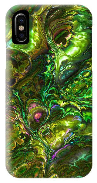 Green Abalone Abstract IPhone Case