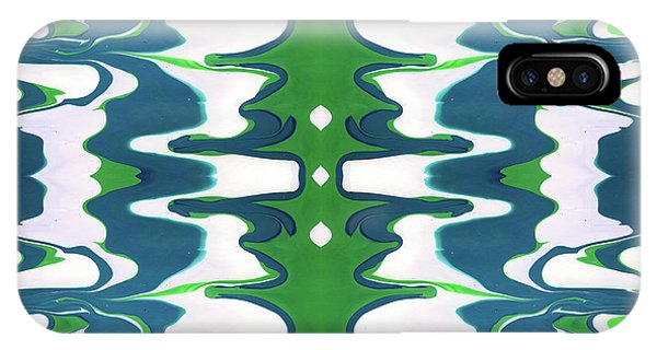 Organic iPhone Case - Green And Blue Swirl- Art By Linda Woods by Linda Woods