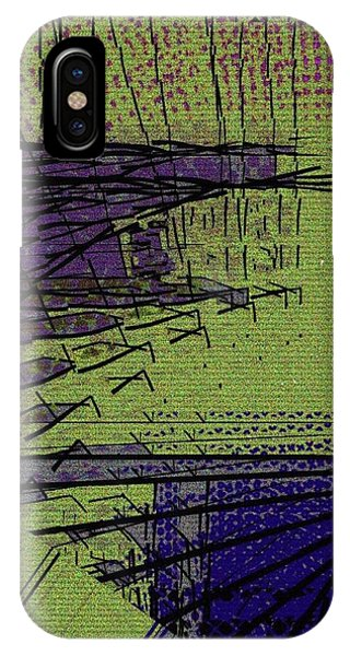 Green And Purple Field IPhone Case