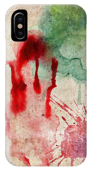 Green And Red Color Splash IPhone Case