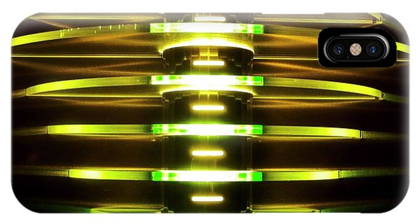 Green And Yellow Light Reflectors IPhone Case