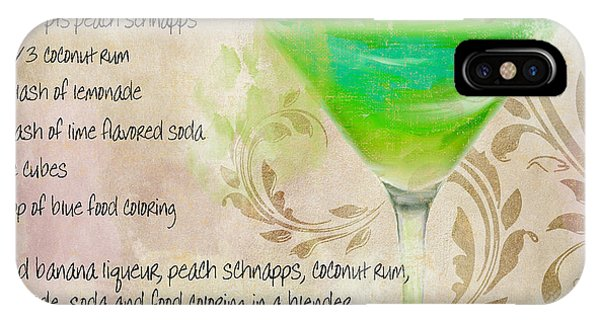 Bloody Mary iPhone Case - Green Angel Mixed Cocktail Recipe Sign by Mindy Sommers