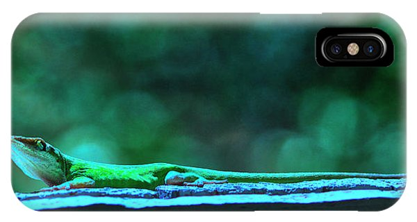 Green Anole Lizard IPhone Case