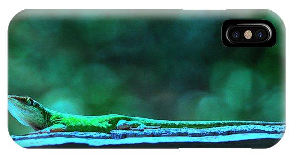 Green Anole Lizard IPhone Case