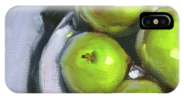 Green Apple Plate IPhone Case