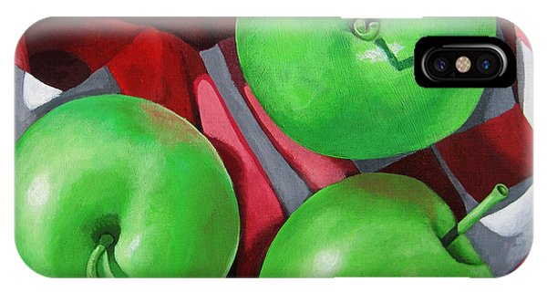 Green Apples Still Life Painting IPhone Case