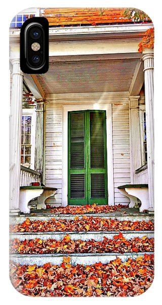 Green Autumn Door IPhone Case