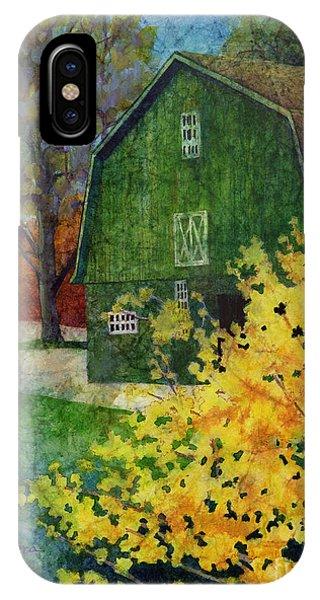 Old Barn iPhone Case - Green Barn by Hailey E Herrera
