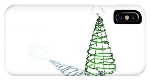 Green Bead Christmas Tree II IPhone Case