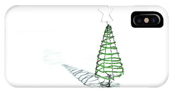 Green Bead Christmas Tree II IPhone Case
