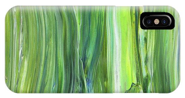 Organic Abstraction iPhone Case - Green Blue Organic Abstract Art For Interior Decor V by Irina Sztukowski