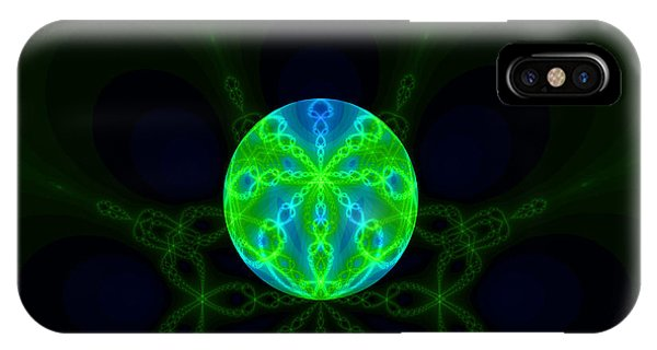 Green Blue World Fractal  IPhone Case