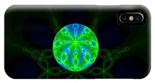 Green Blue World Fractal  IPhone Case
