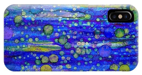 Green Bubbles In A Purple Sea IPhone Case