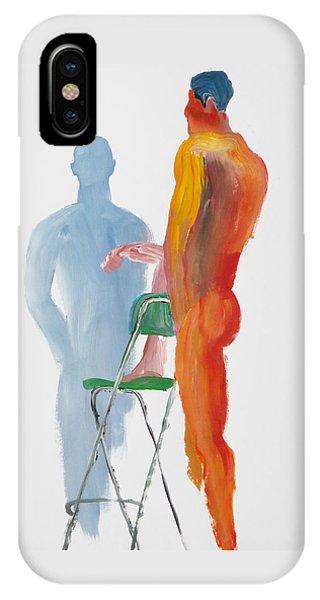 Green Chair Blue Shadow IPhone Case