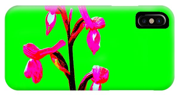 Green Champagne Orchid IPhone Case