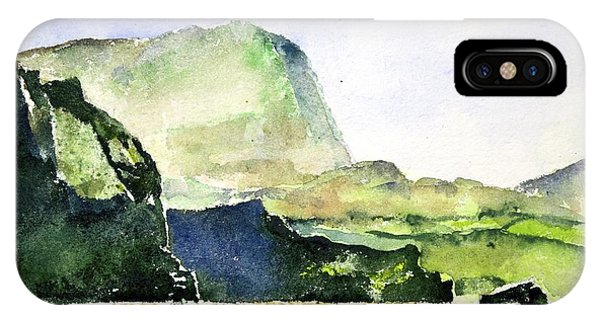 Green Cliffs And Sea IPhone Case