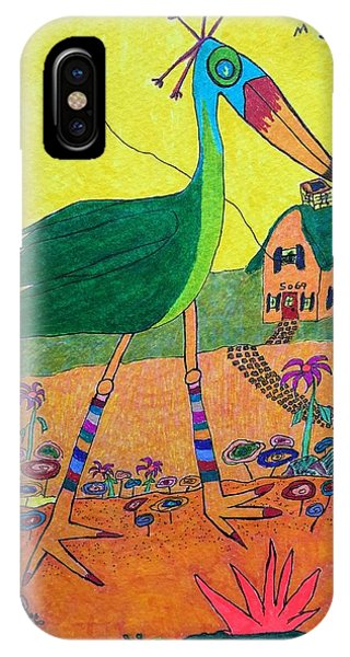 Green Crane With Leggings And Painted Toes IPhone Case