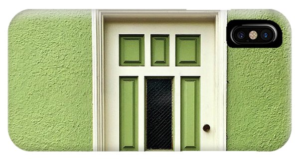 iPhone Case - Green Door Detail by Julie Gebhardt
