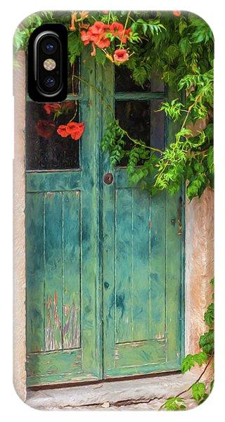 Green Door With Vine IPhone Case