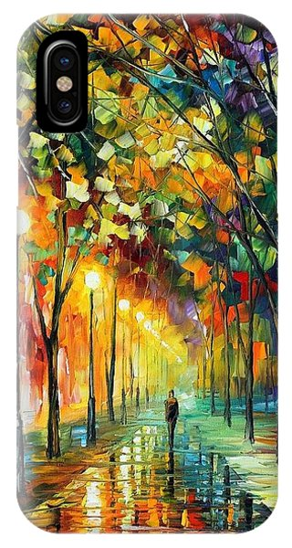 Afremov iPhone X Case - Green Dreams by Leonid Afremov