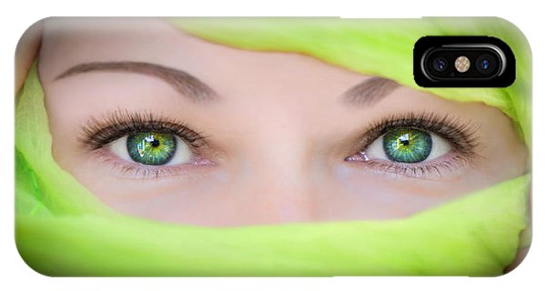 Green-eyed Girl IPhone Case