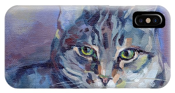 Tabby iPhone Case - Green Eyed Tabby - Thomasina by Kimberly Santini