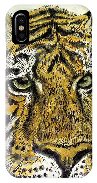Green Eyed Tiger IPhone Case