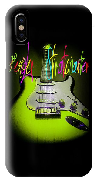 Green Stratocaster Guitar IPhone Case