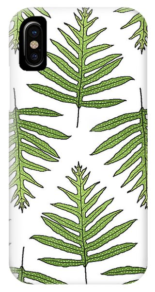 Green Fern Array IPhone Case