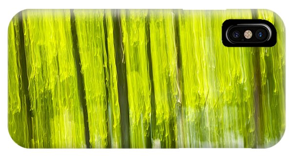Green Forest Abstract IPhone Case