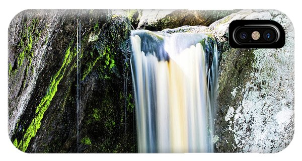 Green Glows On The Falls IPhone Case