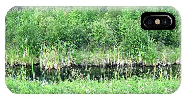 Green Grass Black Water IPhone Case