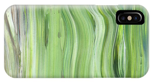 Organic Abstraction iPhone Case - Green Gray Organic Abstract Art For Interior Decor II by Irina Sztukowski